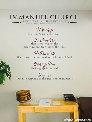 Church Decor Ideas With Wall Decal And Lettering - Wall decals for church nursery