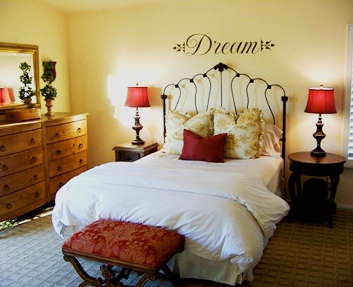 Designer bedroom decals janice peters for Dream bedroom maker