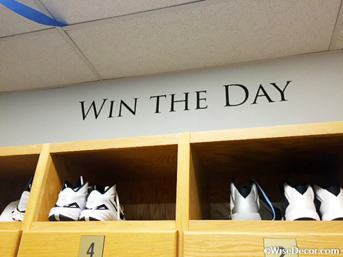 locker room decal