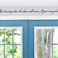 Not Knowing When Dawn Will Come Wall Decal