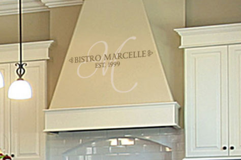 Bistro Marcelle Est. 1999 Wall Decal