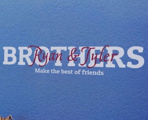 Brothers make the best of friends Wall Decal