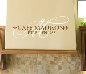 Cafe Madison Établi en 1982 Wall Decal