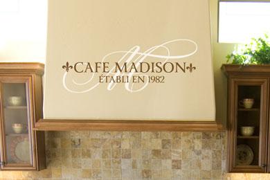 Cafe Madison Établi en 1982 Wall Decal