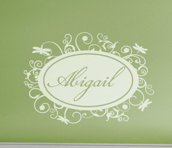 Abigail - Dragonfly Name Framer Wall Decal