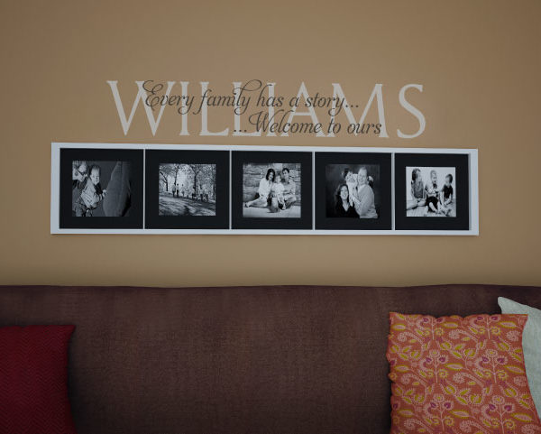 Williams Every family has a story... ...Welcome to ours Wall Decal