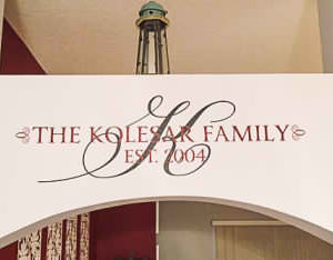 The Kolesar Family Est. 2004 Wall Decal