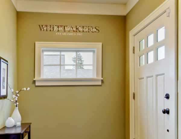 Whittakers Carrie, Ryan, Nathan, Daniel, Eva Established 1989  Wall Decal