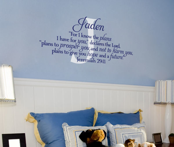For I know the plans I have for you Wall Decal