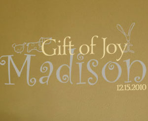 Madison 12.15.2010 - Gift of joy Wall Decal