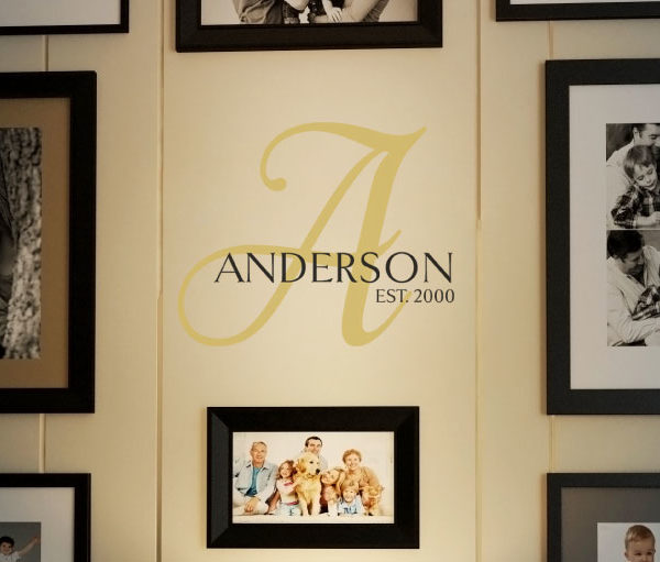 Anderson Est. 2000 - Goldenbook Style Family Wall Decal