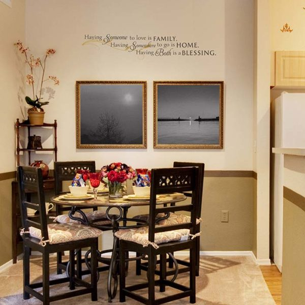 Having someone to love is family. Wall Decal