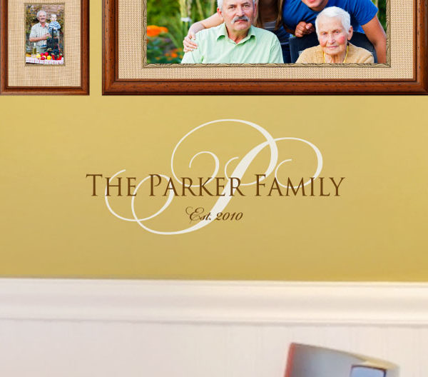 The Parker Family Est. 2010 - Inspire Trajan Family Wall Decal