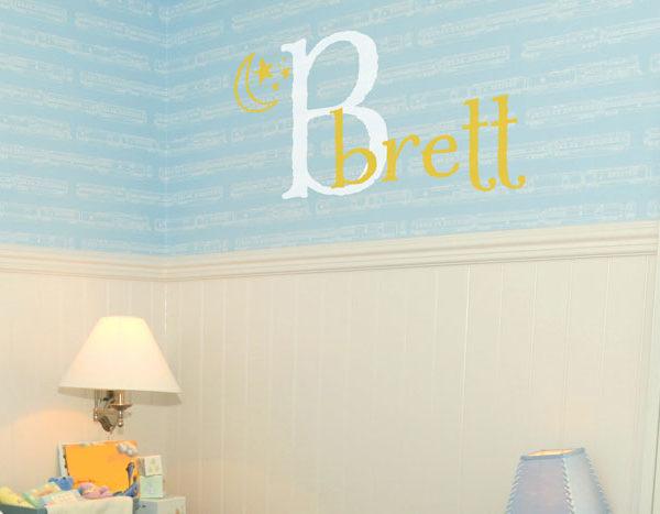 Brett - Moon and Stars Wall Decal