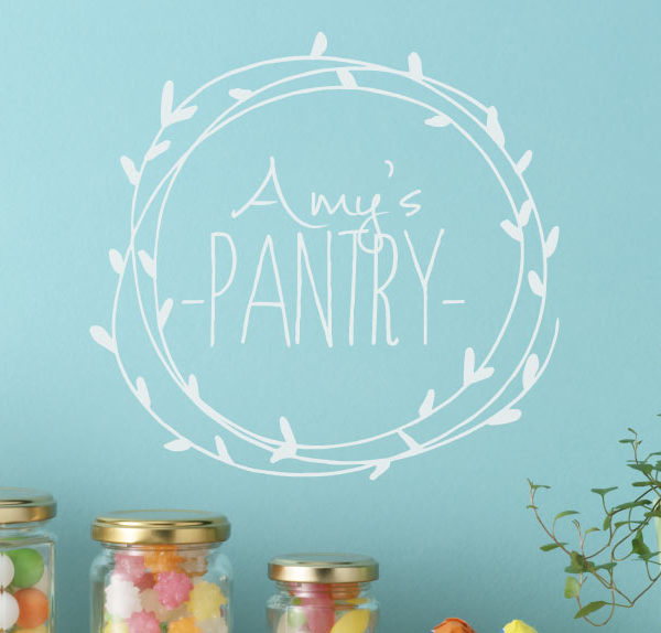 Amy's Pantry - Pantry Name Sign Wall Decal