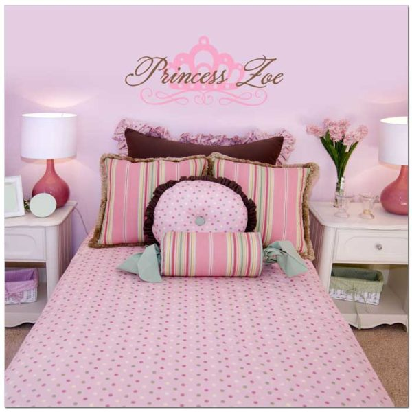 Princess Zoe - Princess Name Room Wall Decal