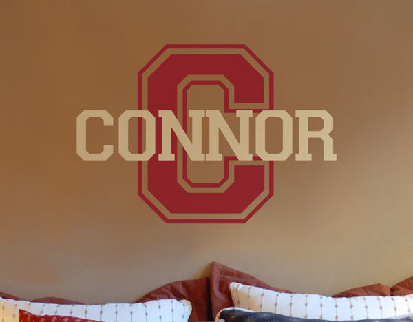 Connor - Varsity Name Design Wall Decal