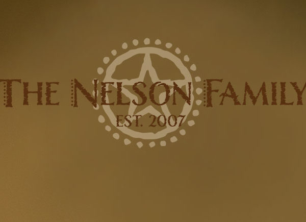 The Nelson Family Est. 2007 - Western Star Family Wall Decal