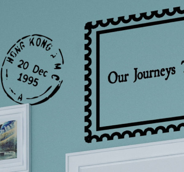 Our Journeys - World cities travel Wall Decal