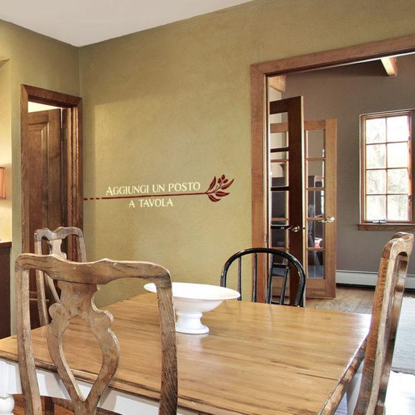 Aggiungi un posto a tavola Wall Decal