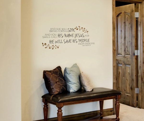 And she will bring forth a son Wall Decal