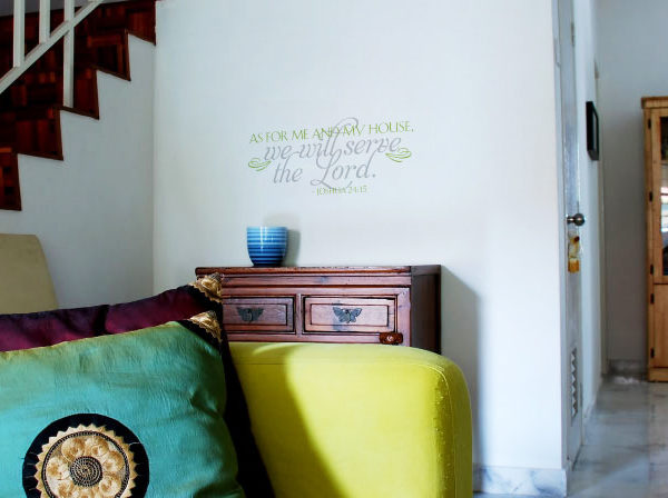 As for me and my house, we will serve Wall Decal