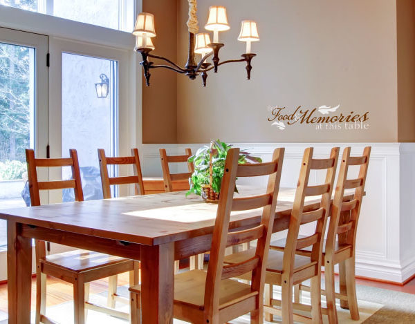Best food and memories at this table Wall Decal