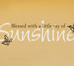 Blessed with a little ray of sunshine Wall Decal
