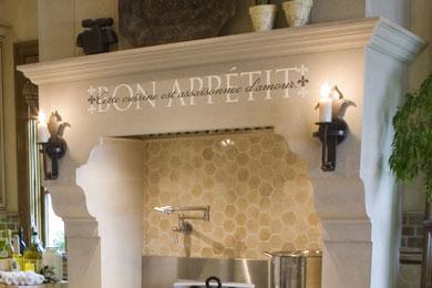 Bon Appétit Cette cuisine est assaisonnée d'amour. Wall Decal