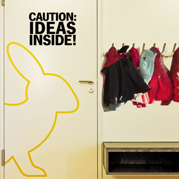 Caution: Ideas inside Wall Decal