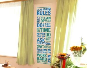 Classroom Rules - Help each other. Clean up after yourself. Do Wall Decal