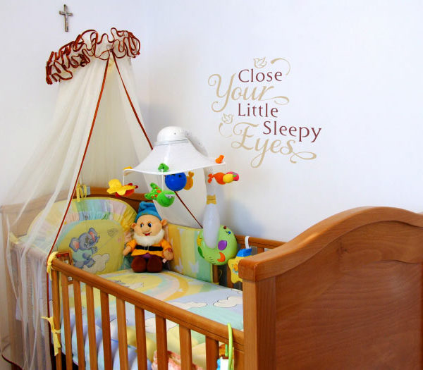 Close your little sleepy eyes. Wall Decal