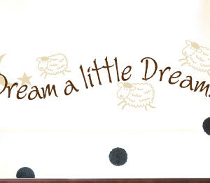 Dream a little dream Wall Decal