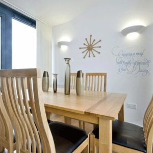 Enjoying a meal with family or friends is fine dining. Wall Decal