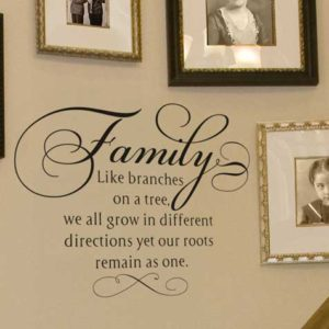 Family. Like branches on a tree Wall Decal