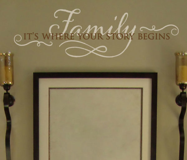 Family, it's where your story begins Wall Decal