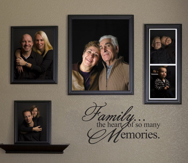 Family... the heart of so many memories. Wall Decal