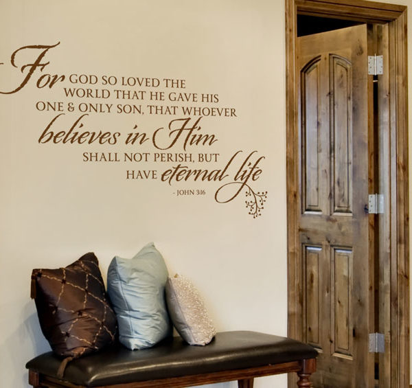 For God so loved the world Wall Decal