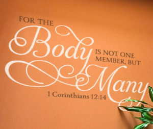 For the body is not one member, but many. Wall Decal