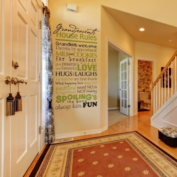 Grandparents House Rules. Grandkids welcome parents by appointment. Wall Decal