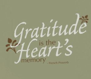 Gratitude is the heart's memory - French Proverb Wall Decal
