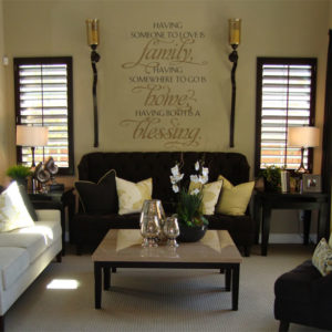 Having someone to love is family Wall Decal