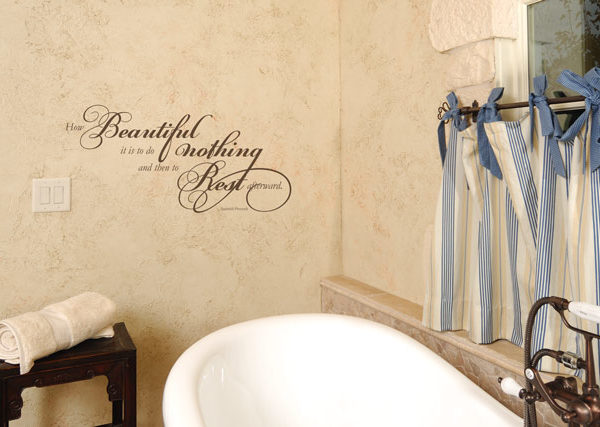 How beautiful it is to do nothing Wall Decal