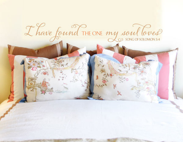 I have found the one my soul loves Wall Decal