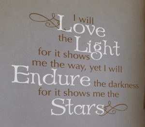 I will love the light Wall Decal