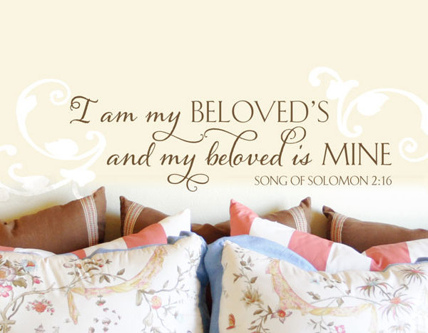 I am my beloved's and my beloved is mine. Wall Decal