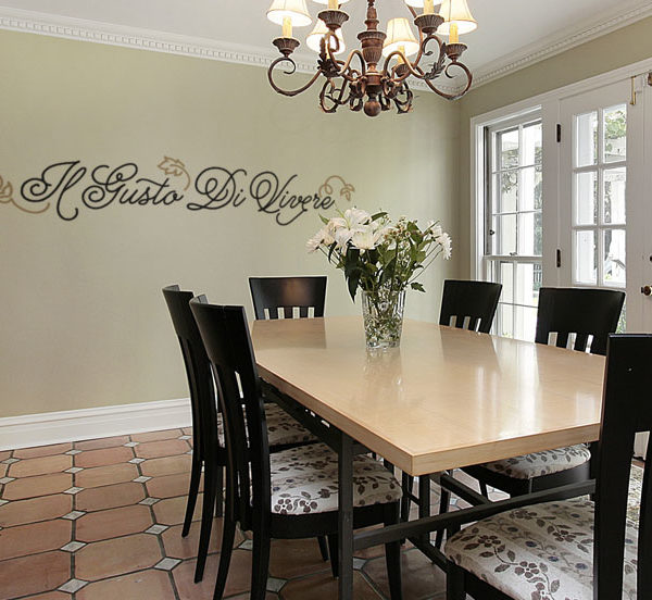 Il Gusto DiVivere Wall Decal