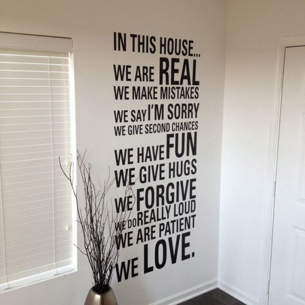 In this house... We are real we make mistakes Wall Decal
