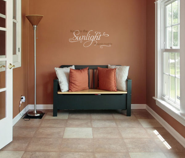 Keep In The Sunlight - Benjamin Franklin Wall Decal