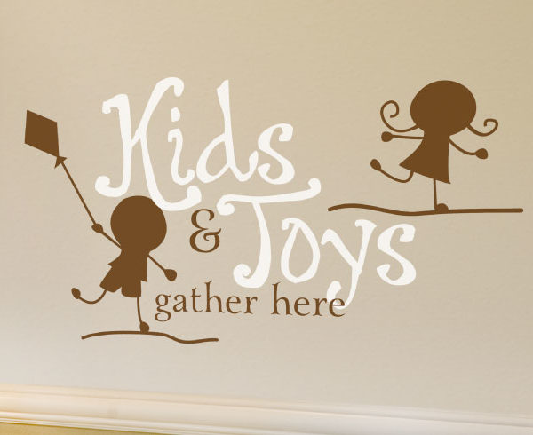 Kids and Toys Gather Here Wall Decal